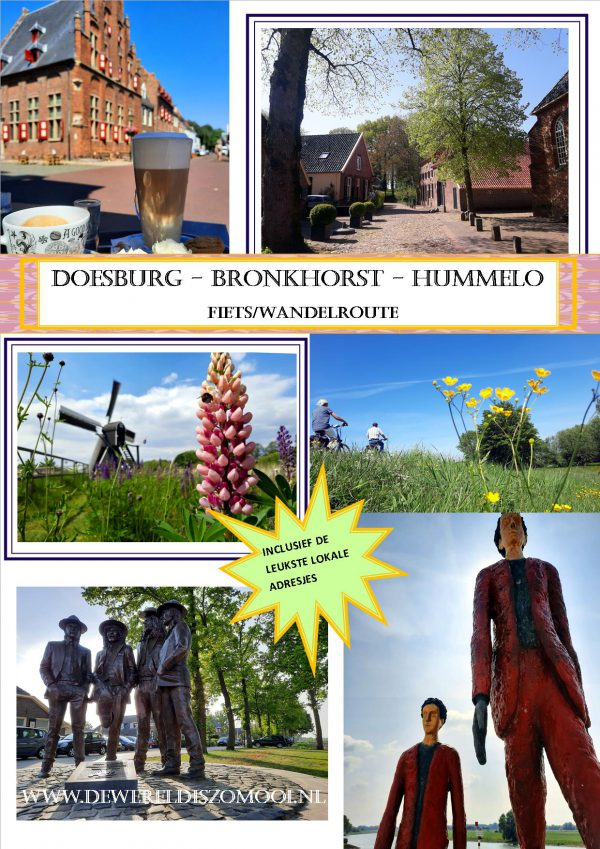 fiets/wandelroute Doesburg Bronkhorst Hummelo